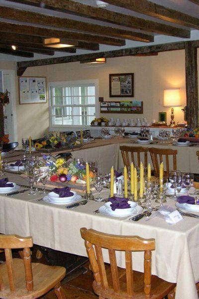 farmhouse set up for banquet