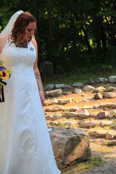 bride at labryinth